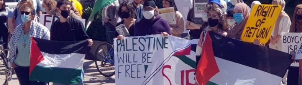 """Vancouver protest: """"Support Palestinian resistance"""" against Israel"""