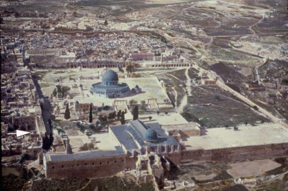 Aerial photograph of the Temple Mount from the south