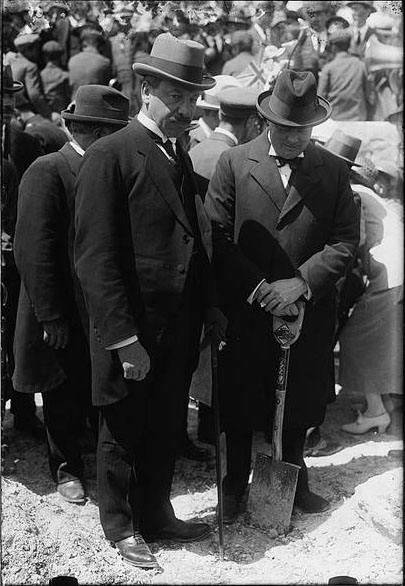 Samuel with Secretary of State for the Colonies Winston Churchill