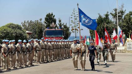 United Nations UNIFIL troops in Naqoura, Lebanon