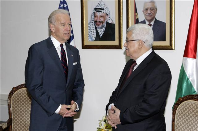 Vice President Joe Biden meeting with Palestinian Authority Chairman Mahmoud Abbas in Ramallah