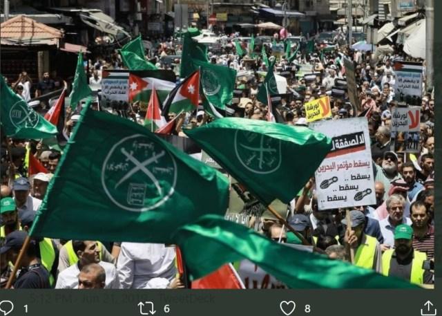 Muslim Brotherhood demonstration in Jordan in 2019