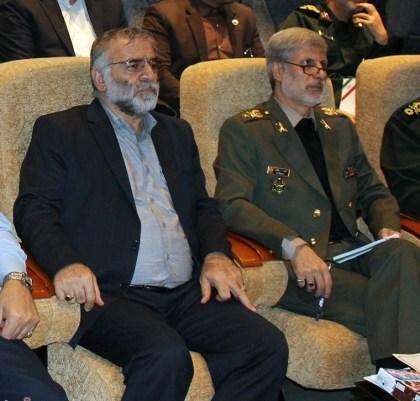Gen. Mohsen Fakhrizade with Amir Hatami