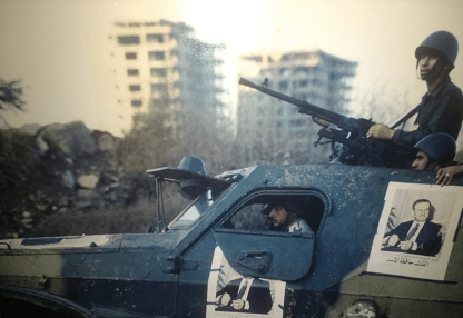 Syrian troops withdrawing from Beirut, August 1982