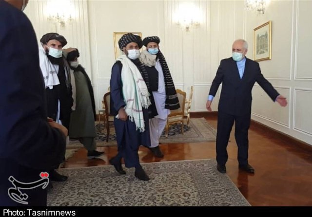 Zarif welcomes the Taliban in Tehran