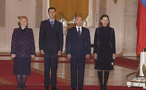 Syrian President Bashar al-Assad's first state visit to Russia in 2005