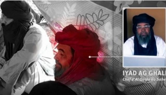 Iyad Ag Ghaly alongside several jihadist leaders