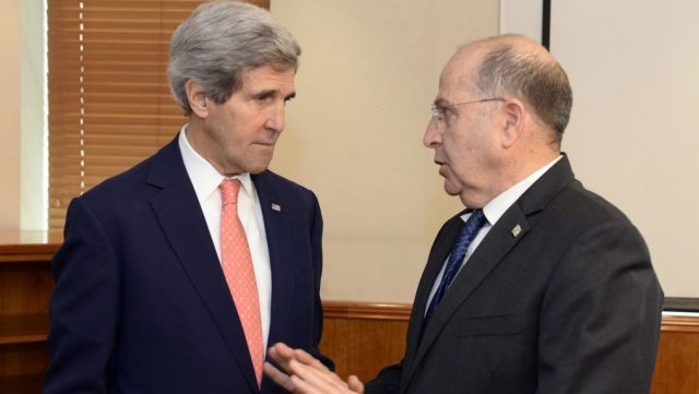 John Kerry and former Israeli Defense Minister Moshe Ya'alon