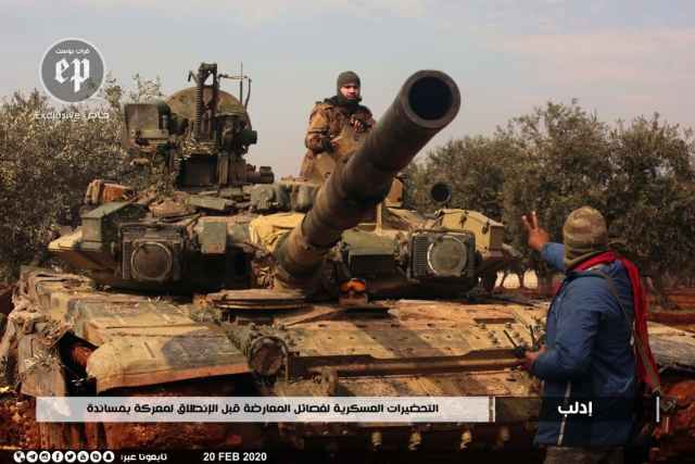 Captured Syrian T-90 tank