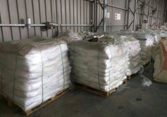 A salt shipment hid four tons of ammonium chloride intercepted at the Nitzana border crossing between Egypt and Israel in 2016.