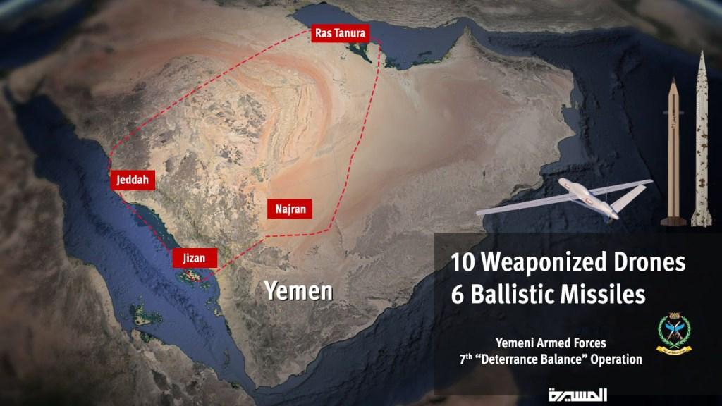 New Houthi Attacks on Strategic Targets in Saudi Arabia and Yemen
