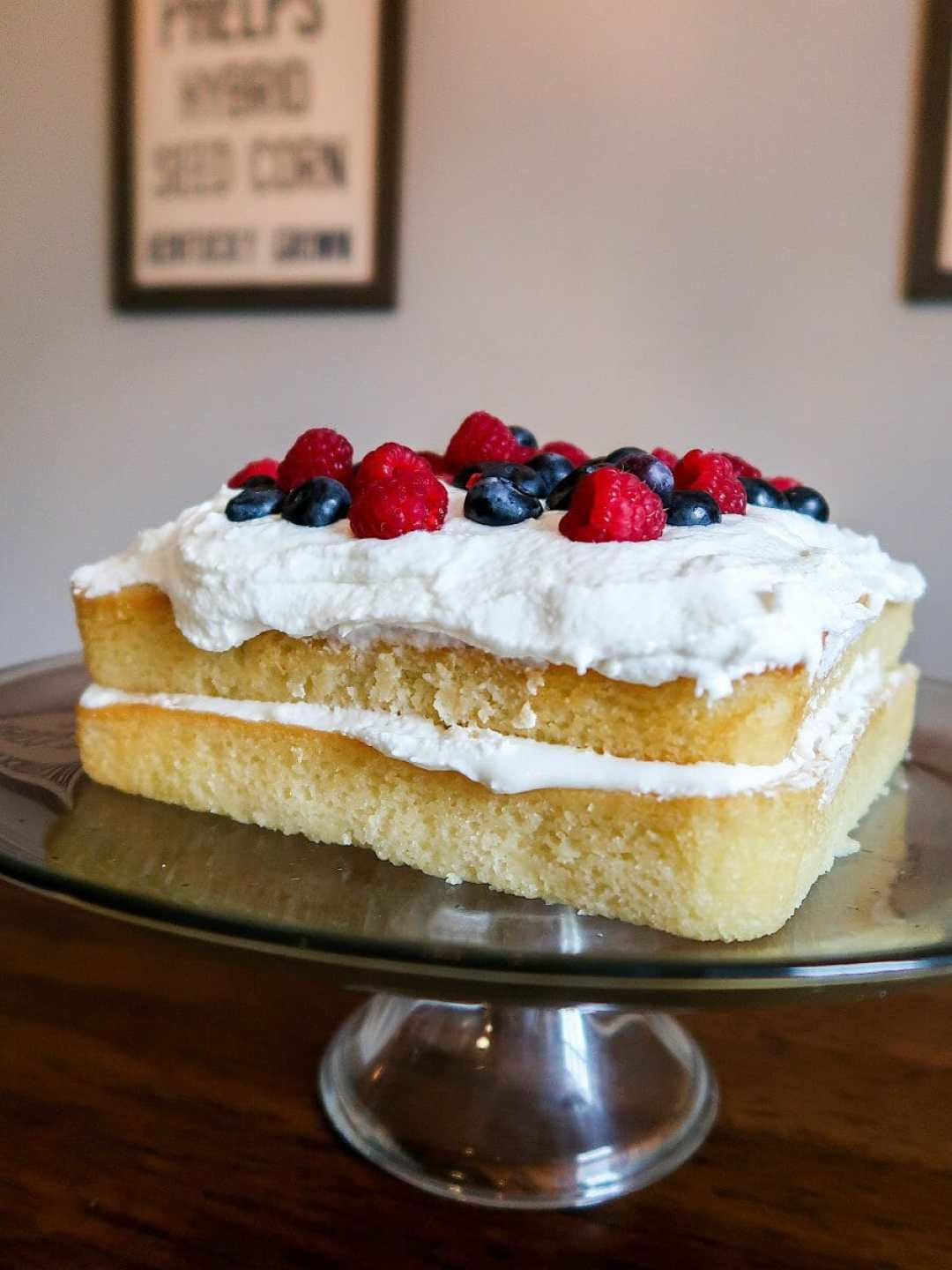 Lemon Ale 8 One Cake with Blueberries and Raspberries