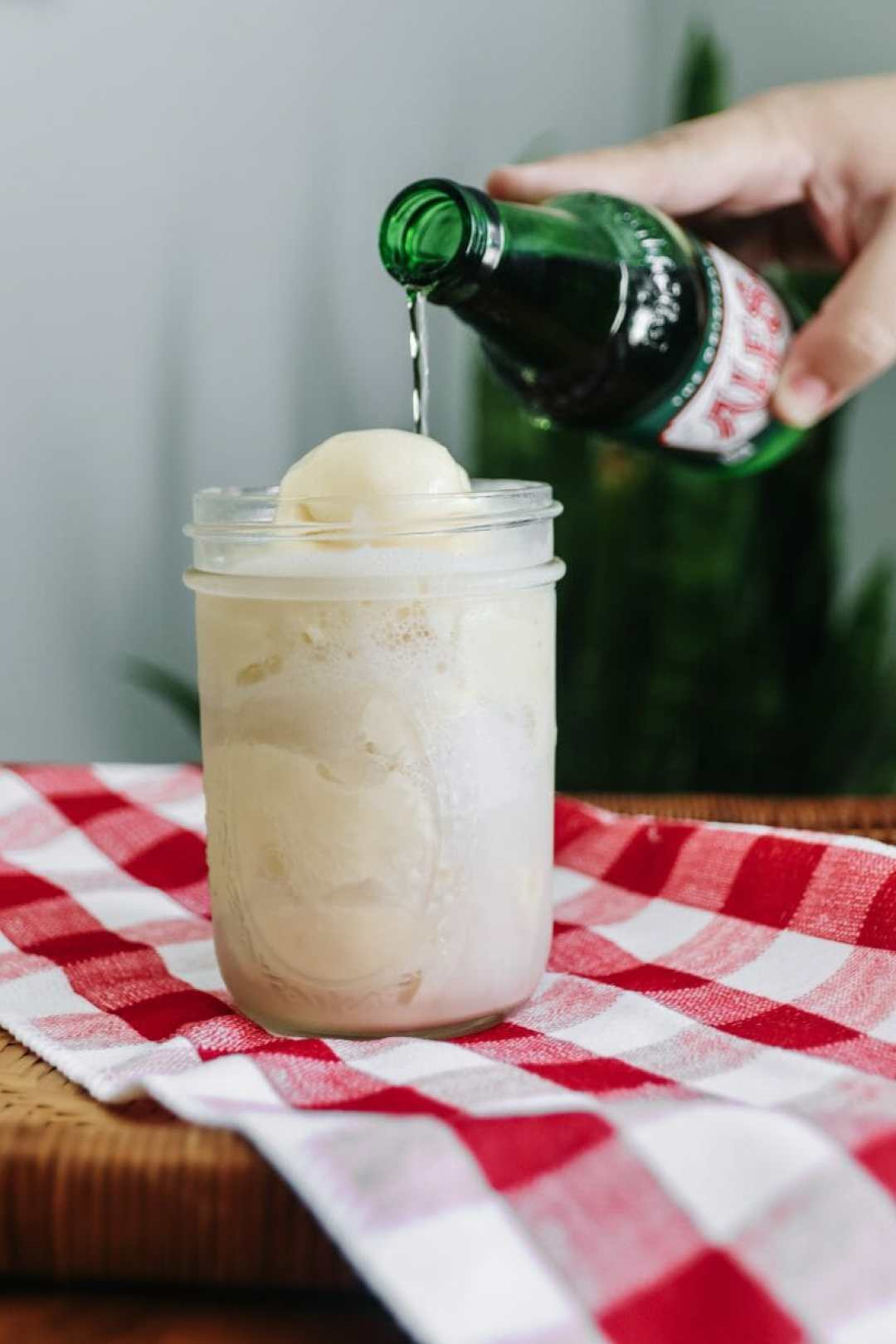 Homemade Ale-8-One Lemon Ice Cream Floats by JCP Eats (JC Phelps)