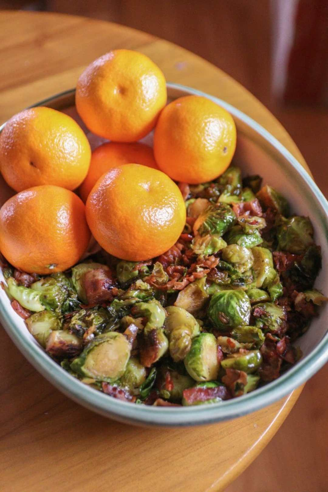 Maple Bacon + Orange Juice Glazed Brussels Sprouts - A Recipe by JC Phelps of JCP Eats, a Kentucky-based Food, Travel, and Lifestyle Blog