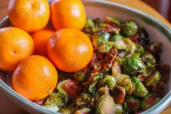 Mandarin Maple-Glazed Brussels Sprouts