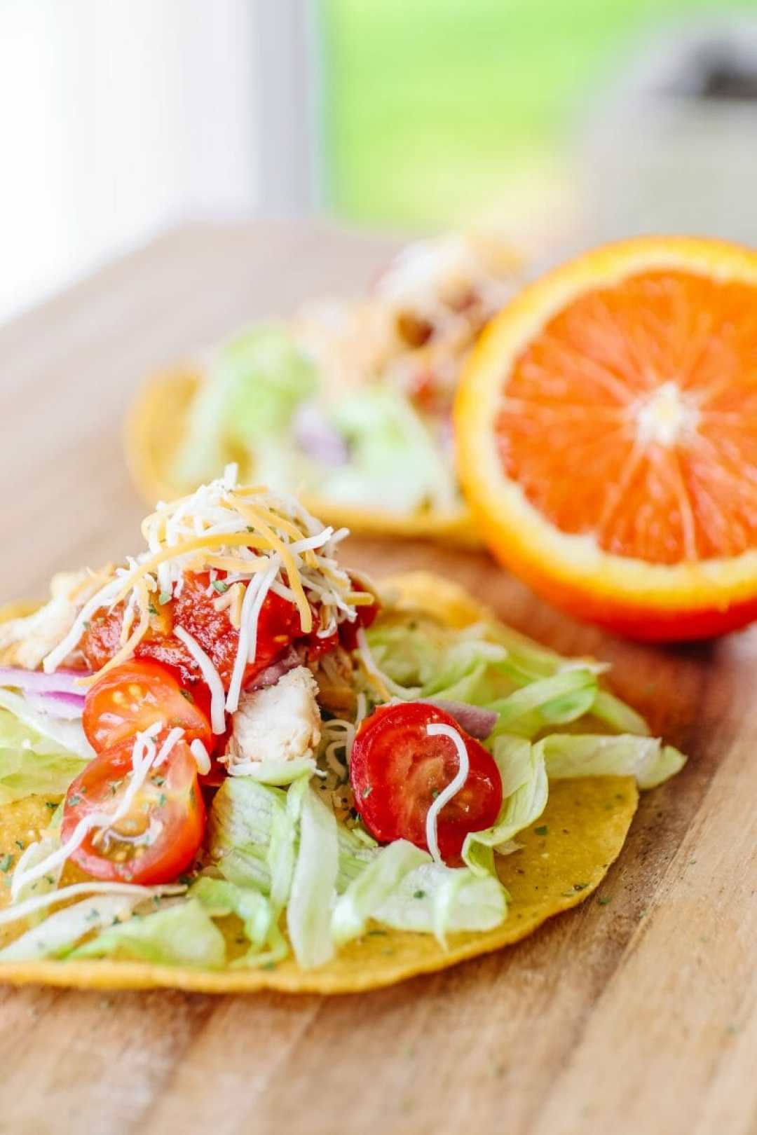 Tostadas Made From The Easiest Crockpot Chicken, Made With Sunkist Oranges by JC Phelps of JCP Eats, A Kentucky Based Food, Travel, and Lifestyle Blog