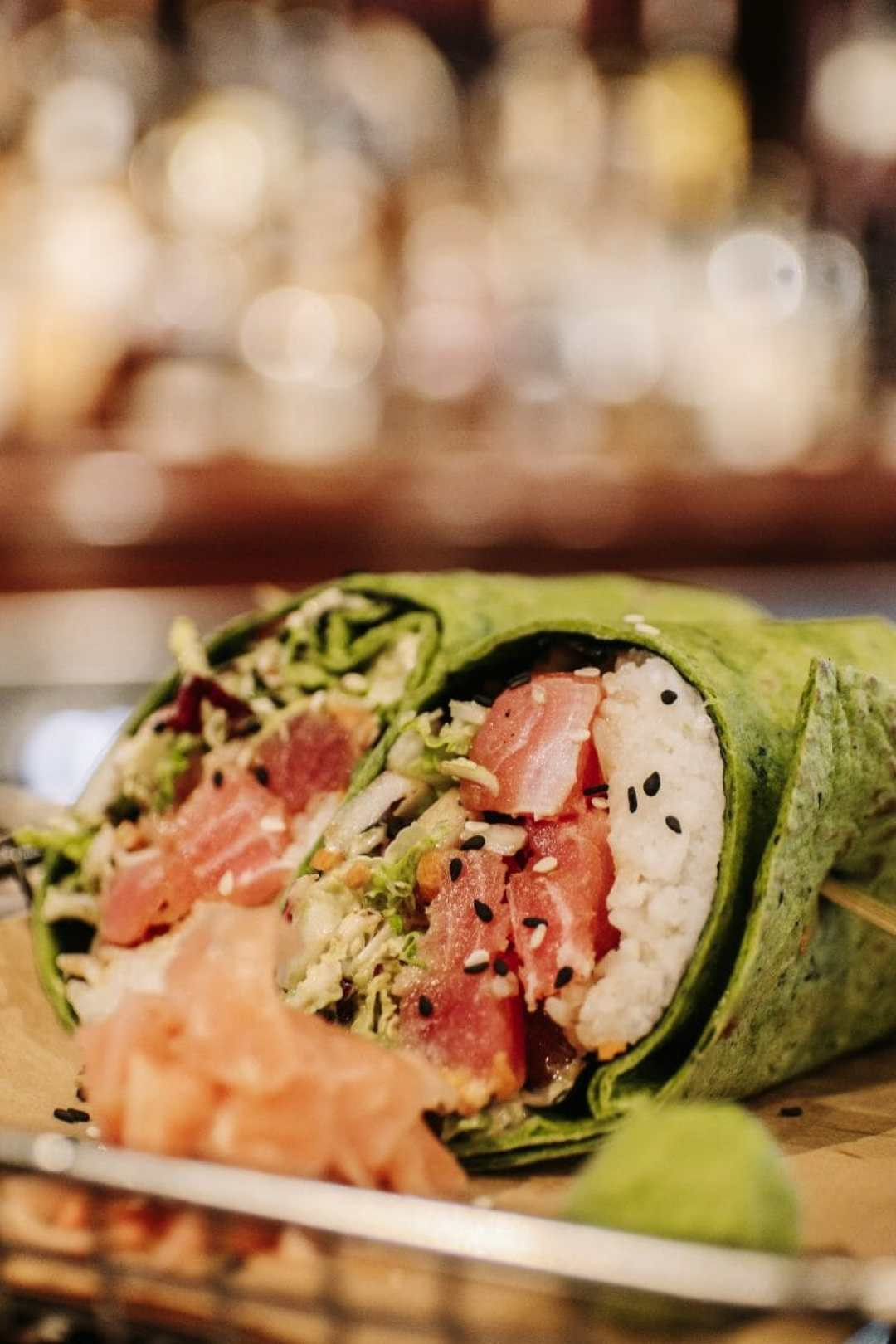 Tuna Poke Burrito from Down One Bourbon Bar