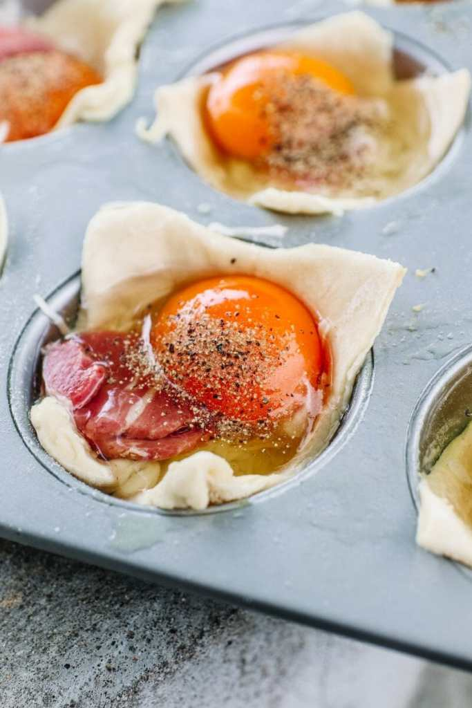 Happy Egg + Country Ham Brunch Cups, Easy Brunch Recipes, by JC Phelps of JCP Eats