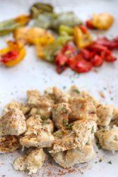 Single Sheet Pan Meal Prep: Fajita Chicken