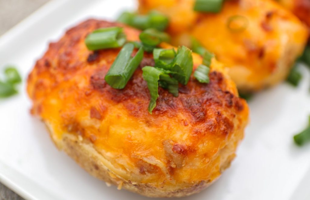 Cheddar and Bacon Twice-Baked Southern Potatoes