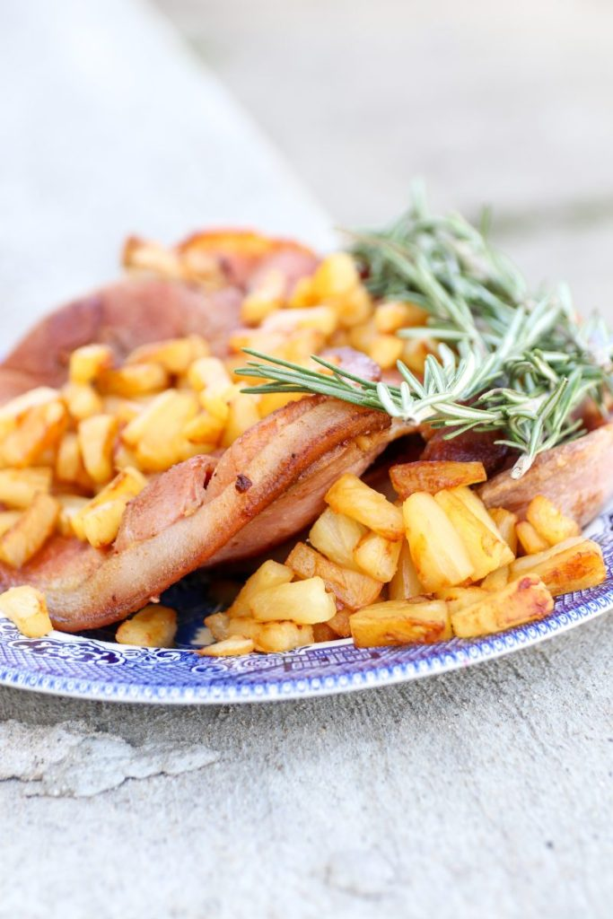 Pineapple Skillet-Fried Ham