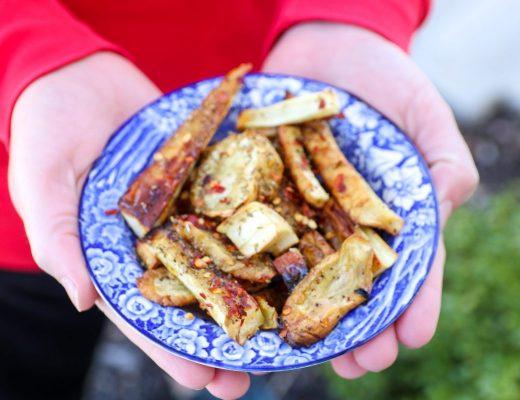 Pan-Roasted Ginger Parsnips