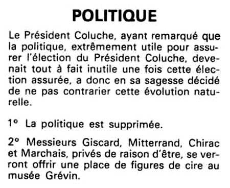 """Résultat de recherche d'images pour """"coluche président"""""""