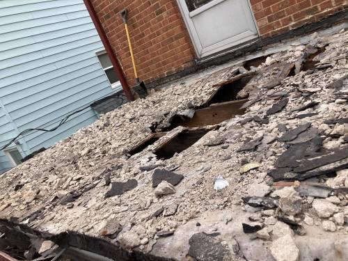 old roof repair