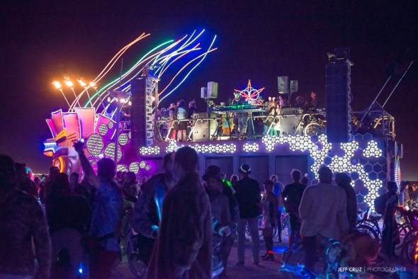 Art cars were often mobile discos for people to follow and party around with.