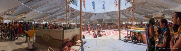 Centre camp is situated under the largest free standing canopy structure in the world.