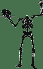 Samhain skeleton
