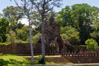 The City Walls of Angkor Thom