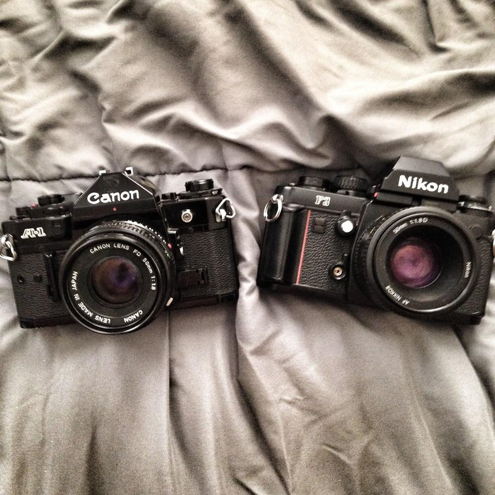 Camera Competition? Canon A1 vs. Nikon F3 (1/6)