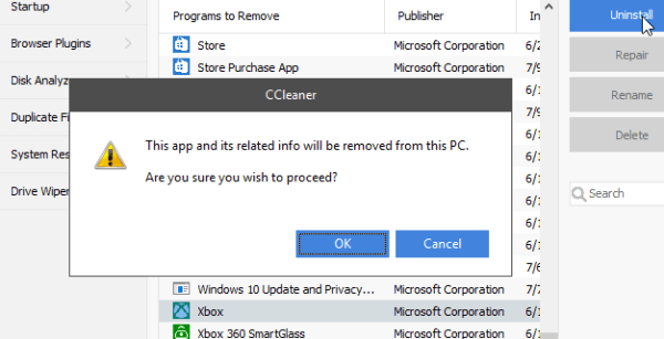 How to uninstall Xbox app in Windows 10 without PowerShell ...