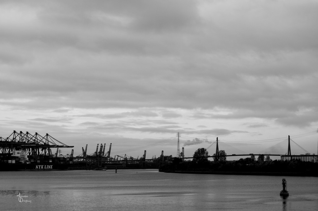 Faces of Hamburg – Bridge and cranes