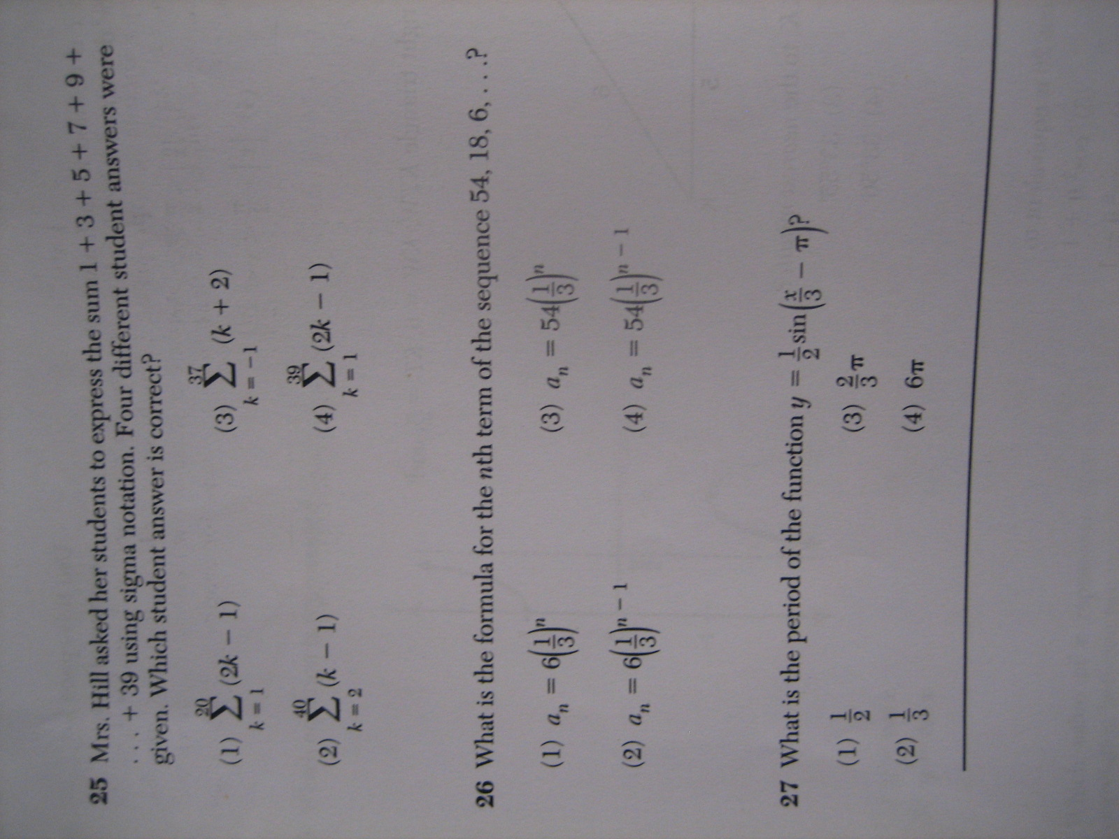 Lgebr 2 Trig Ometry Regents Full List Of Multiple Choice