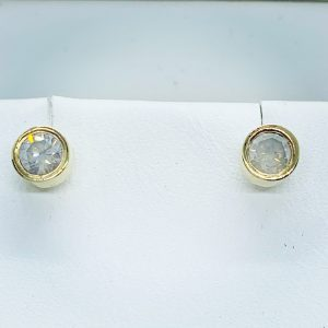 2 Carat Round Diamond Stud Earrings