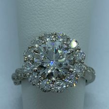 The Carla Halo Engagement Ring