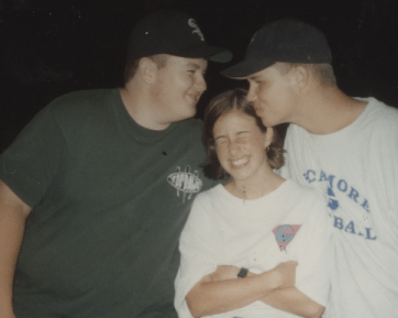 Rodney, me, and Jerry. I was boy crazy, even in 1995!