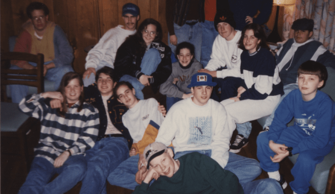First Baptist Church Youth Group on our winter ski retreat 1995.