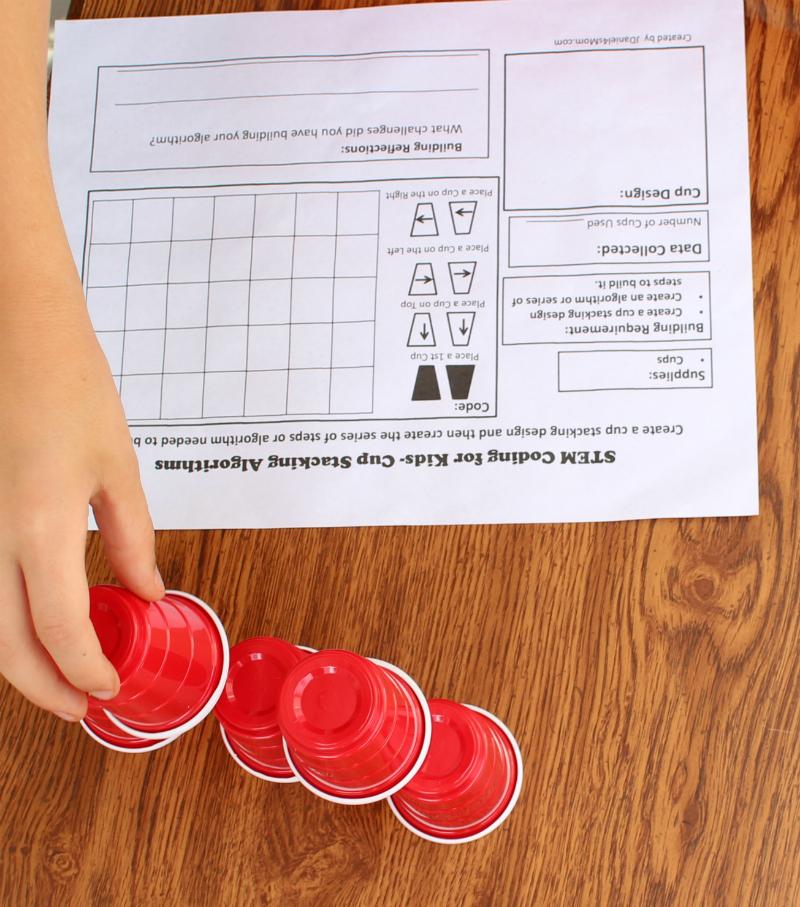 STEM Coding for Kids - Cup Stacking Algorithms