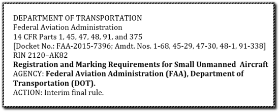 department of transportation faa