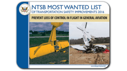 NTSB Most Wanted List 2016