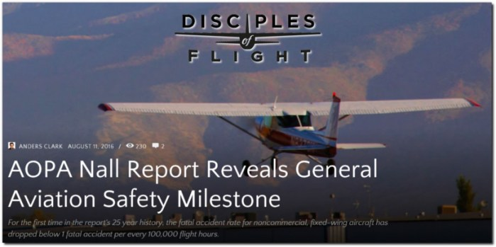 general aviation safety record