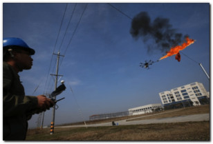 drone flame thrower