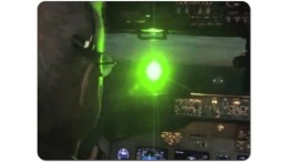 Aiming lasers at aircraft