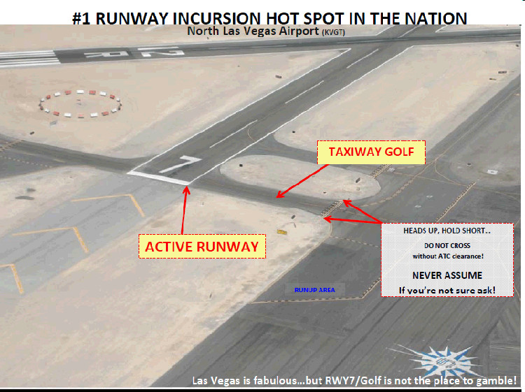 runway incursion north las vegas airport