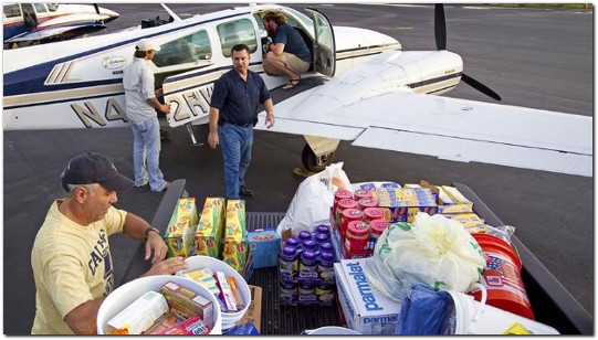 flying disaster relief missions