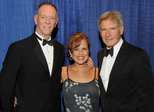 1Randy Babbitt, and Mrs. Babbitt with Harrison Ford at the Wright Memorial Dinner