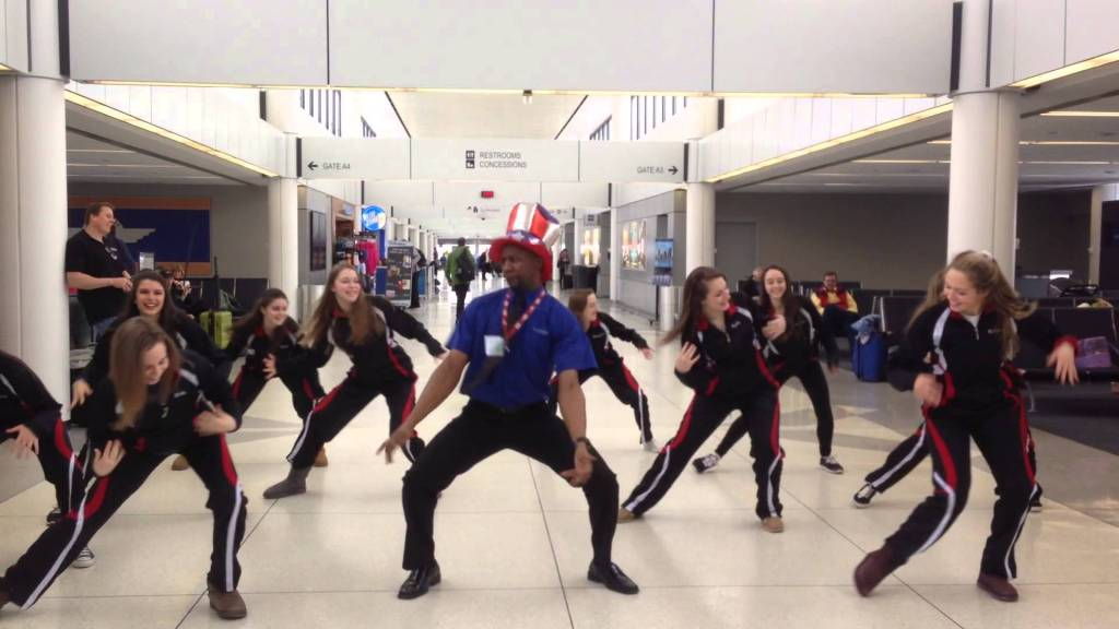 Kyran Ashford and the the Penfield High School Dance Team.